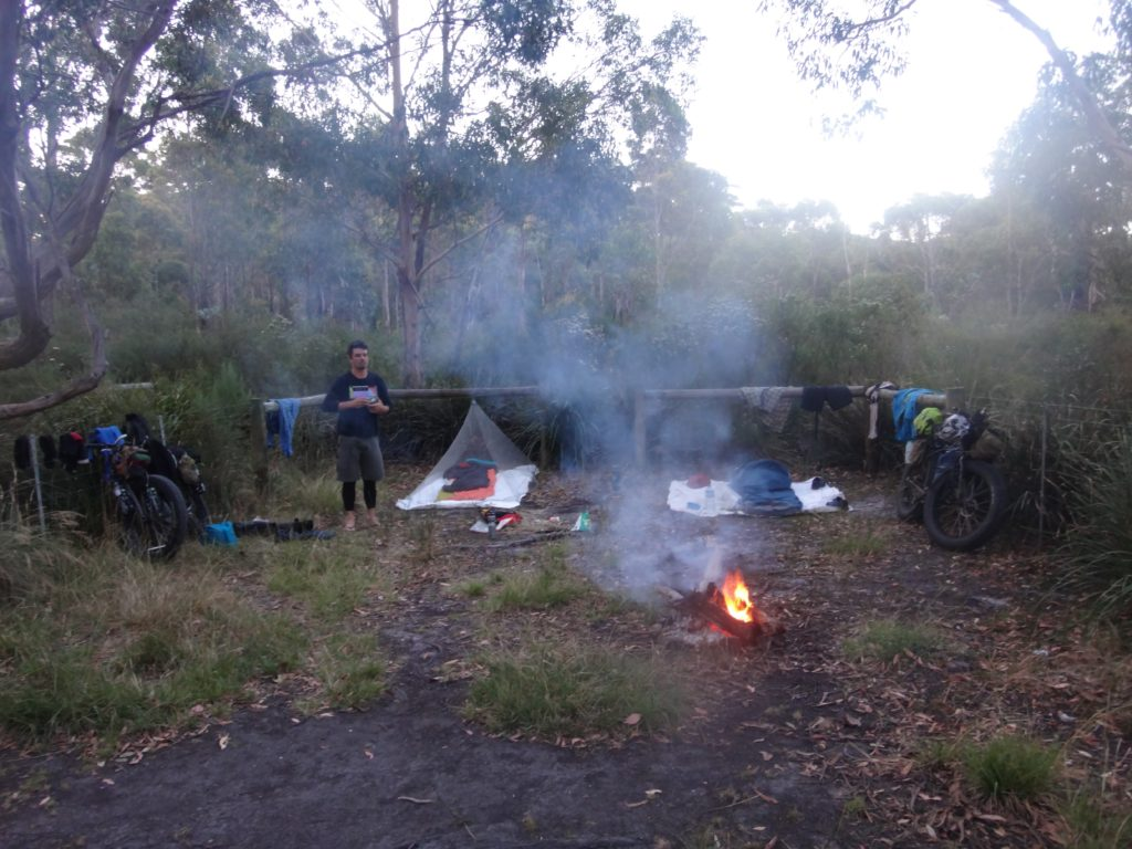 Our campsite at Chain of Lagoons